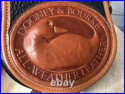 DOONEY & BOURKE Vintage AWL BIG DUCK Leather Navy Blue Pebbled Leather Crossbody