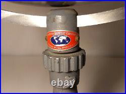 Denoyer Geppert Globe 24 Metal Navy Gray Vintage 1940s Mint Condition