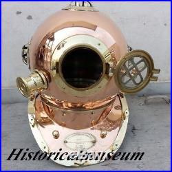Divers Helmet U S Navy's Mark V Copper-Brass Diving