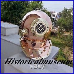 Divers U. S Navy Mark V Solid Copper & Brass Reproduction Helmet