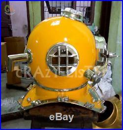 Diving Divers Solid Steel Helmet Antique Mark V U. S Navy Vintage Divers Gift