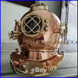 Diving Helmet U. S Navy Mark V Deep Sca Vintage Divers Helmet Boston Replica 18