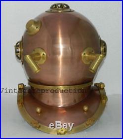 Diving helmet U. S navy mark V deep sea divers helmet replica antique scuba 18