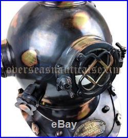 FULL SIZE Deep sea Scuba Antique U. S Navy Mark V Brass Divers Diving Helmet gift