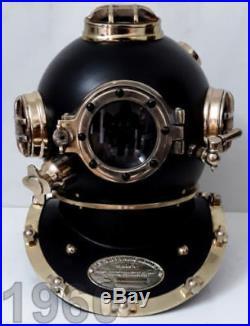 FULL STEEL DIVING HELMET U. S Navy MARK V ANTIQUE DIVING DIVERS VINTAGE HELMET