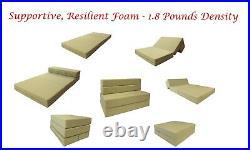 Full Size Folding Foam Mattress, Sofa Chair Bed, RV Mattresses 6x54x75, Navy