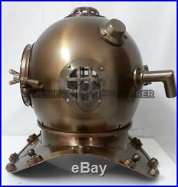 Full size U. S Navy mark V Antique Divers Diving Helmet ANCHOR ENGINEERING Scuba