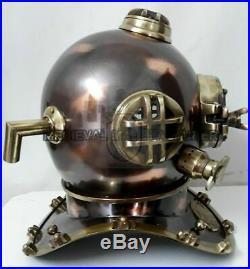 Full size Vintage Helmet Mark V Deep U. S. Navy island Antique Diving Diver Decor
