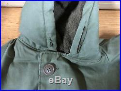 Genuine Rare Us Navy Ww2 Overcoat Rubberized Waterproof Alpaca Lined Vgc! 38