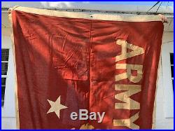 HUGE US WWII Army-Navy E Excellence in OIL Production Award Pennant Flag 8ft