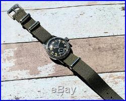 Hamilton USN BUSHIPS ORD. DEPT. U. S. A. Military Wristwatch Original Black Dial