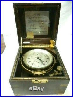 Hamilton Watch Co. Model 21 U. S. Navy Chronometer clock, just serviced