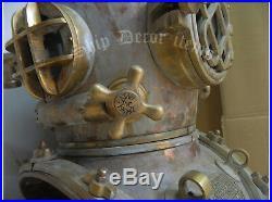 Helmet U. S Navy Mark V-18 Diving Helmet Antique Deep sea Scuba Divers