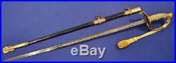 Historic! Pre Wwi & Wwi Us Navy Officers Swordbelonged To Navy Cross Recipient