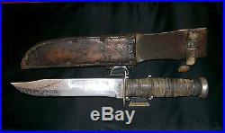 KABAR USA Knife & USN BOYT 43 Sheath WWII 1219C 1943 Issue, Used, Carried Rare