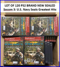 LOT OF 120 BRAND NEW SEALED Socom 3 U. S. Navy Seals Greatest Hits (PS2, 2005)