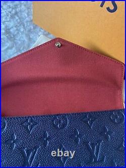 LOUIS VUITTON Pochette Felicie Navy Red Empreinte Crossbody Bag