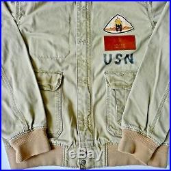 Levi's Flight Jacket, MIX Usn 37j1/m-421 & Aac A-1, Size L (actual 46 Tall)1973