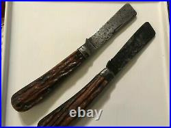 Lot of 2 Rope Knives U. S. Navy etched on Both Vintage Stag