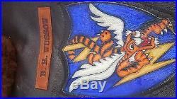 M422A Navy Leather Flight Jacket Reproduction. CBI Flying Tiger Size 46