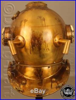 MARK V ANTIQUE SOLID STEEL & Iron U. S NAVY FULL 18 DIVING DIVERS HELMET