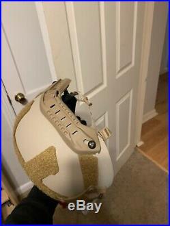 MSA Medium TC-2001 OD 3-Hole MICH ACH USN USA High Cut Ballistic Helmet