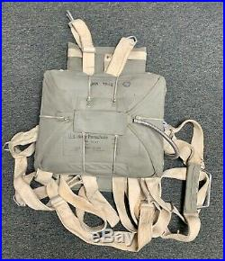 Made for WWII Movie 2019 USN Navy Aviator Seat Pack Parachute with X Type Webbing