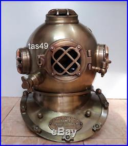 Maritime Scuba 18 Diving Helmet Antique U. S Navy Mark V Vintage Divers Helmet