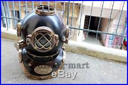 Maritime U. S Navy Mark V Diving Divers Helmet Brass Full Size