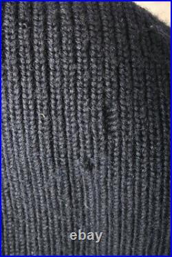 Men's 1940s WWII Navy Watch Cap Wool Knit Stocking Hat 40s Vtg USN