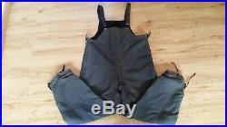 Men's Vintage 1940's Blue U. S NAVY USN WW2 WWII Deck Overalls Bibs Pants Sz-L