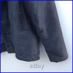 Mint Original Stenciled US Navy N-1 Blue Deck Jacket Vat Dyed Size 36
