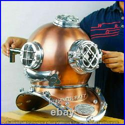 Morse Antique Copper Scuba Boston Divers Diving Helmet US Navy Mark Deep Diver