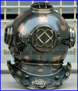 Morse Copper Style Diving Scuba SCA Divers US Navy V Divers Deep Antique Helmet