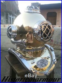 NEW DECORATIVE Brass Solid Antique Divers Diving Helmet U S Navy Mark V GIFT