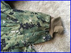 NEW NWU Type III Navy Seal AOR2 Inclement Weather Combat Shirt Jacket SR MR