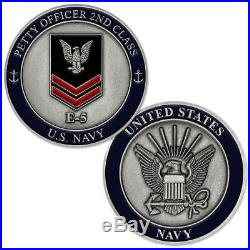 NEW U. S. Navy Petty Officer 2nd Class E-5 Challenge Coin