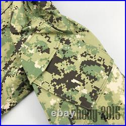 NWT NWU Type III Navy Seal AOR2 Digital Woodland GORETEX jacket parka size LR