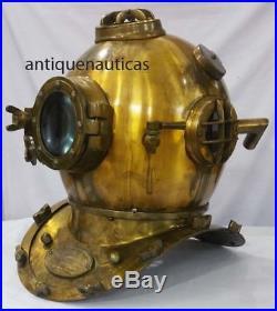 Nautical Anchor Engineering Deep Sea Divers Helmet U. S. Navy Diving Helm 42cm ht