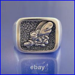 Navy Seabees Ring Solid Sterling Silver (37-24)