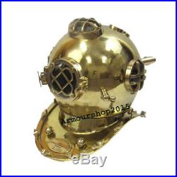 New Antique Reproduction Solid Brass U. S. Navy Mark-V Diving Helmet Gift