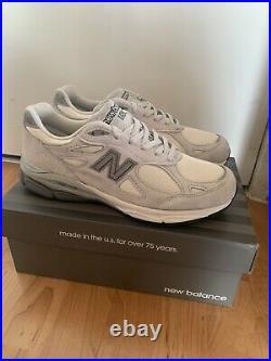 New Balance 990V3 Light Grey USA Running Sneaker Shoes Men's 10.5 BRAND NEW