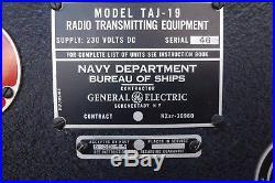 New In Crate 1943 WW II General Electric TAJ-19 US Navy Ship Radio Transmitter