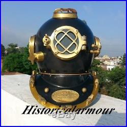 New Scuba Brass vinatge Divers Helmet U S Navy Mark V Full Size Diving Helmet