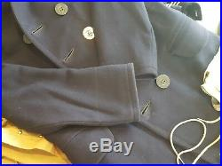 No Res Original WWI US Navy Peacoat 13 Star Buttons & 2 Uniform Sets lot