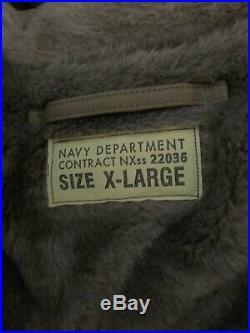 Nwt Buzz Rickson Usn N-1 Deck Jacket! Cheap! Size XL New