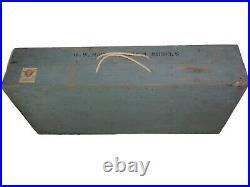 ORIGINAL RARE WORLD WAR II 2 U. S. NAVY TEACHER MINIATURE SHIP MODELS WithCASE and