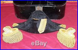 Old US Navy Bicorn Fore and Aft Naval Officers Hat WWI WWII WW1 WW2 USN Bicorne
