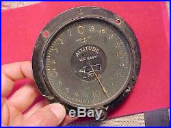 Original Rare Wwi Usas Airplane Altitude Instrument / Gauge Us Navy