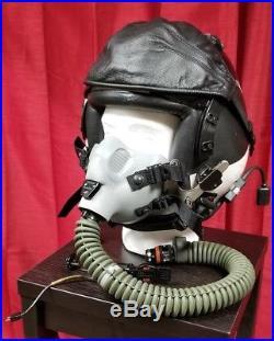 Original US Navy USN Gentex HGU-68/p Tac Air Taped Pilot Flight Helmet